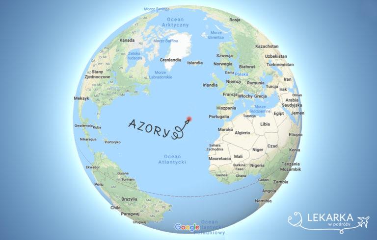 Azory na mapie świata